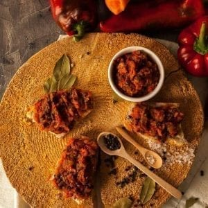 Zacusca de hribi produs traditional romanesc #autenticro.eu 1