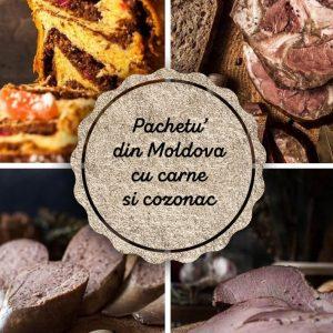 Pachetu' din Moldova Produse traditionale romanesti carne de porc cozonac de casa #autenticro.eu