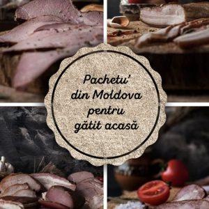 Pachetu' din Moldova Produse traditionale romanesti carne de porc gatit acasa reteta scarita afumata ceafa carnati #autenticro.eu