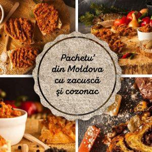 Pachetu' din Moldova Produse traditionale romanesti zacusca ghebe vinete pastrav cozonac de casa #autenticro.eu